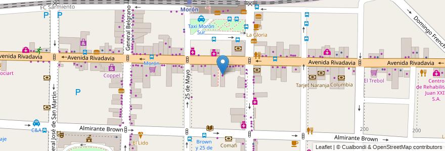Mapa de ubicacion de Simplicity en Argentina, Buenos Aires, Partido De Morón, Morón.