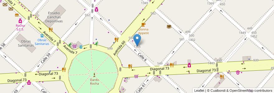 Mapa de ubicacion de Sondos Albergue transitorio, Casco Urbano en La Plata, Partido De La Plata, Buenos Aires, Argentina.