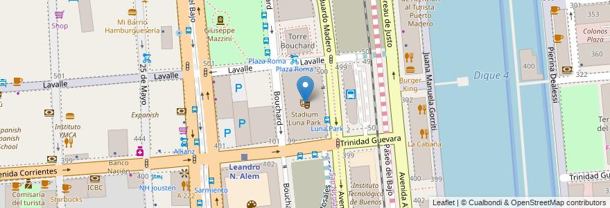 Mapa de ubicacion de Stadium Luna Park, San Nicolas en Argentina, Ciudad Autónoma De Buenos Aires, Buenos Aires, Comuna 1.
