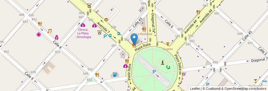Mapa de ubicacion de Stop, Casco Urbano en La Plata, Partido De La Plata, Buenos Aires, Argentina.