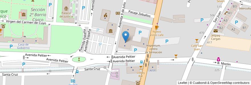 Mapa de ubicacion de Subsecretaría de Agricultura Familiar en Argentina, Mendoza, Chile, Departamento Capital, Ciudad De Mendoza, Sección 2ª Barrio Cívico.