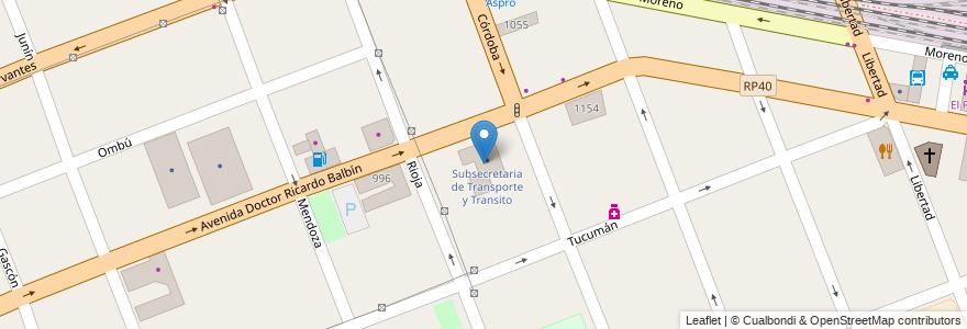 Mapa de ubicacion de Subsecretaria de Transporte y Transito en Argentina, Buenos Aires, Partido De Merlo, Merlo.