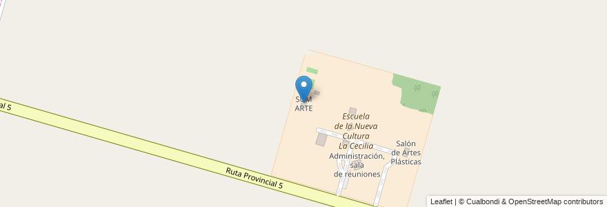 Mapa de ubicacion de SUM ARTE en Municipio De Monte Vera, Departamento La Capital, Santa Fe, Argentina.