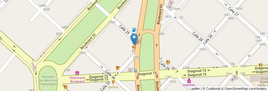 Mapa de ubicacion de Sundae, Casco Urbano en La Plata, Partido De La Plata, Buenos Aires, Argentina.
