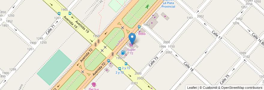 Mapa de ubicacion de Super 72, Altos de San Lorenzo en Altos De San Lorenzo, Partido De La Plata, Buenos Aires, Argentina.