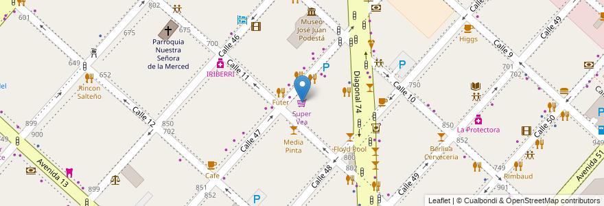 Mapa de ubicacion de Super Vea, Casco Urbano en La Plata, Partido De La Plata, Buenos Aires, Argentina.