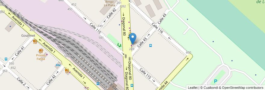 Mapa de ubicacion de Supermercado Diagonal 80, Casco Urbano en La Plata, Partido De La Plata, Buenos Aires, Argentina.