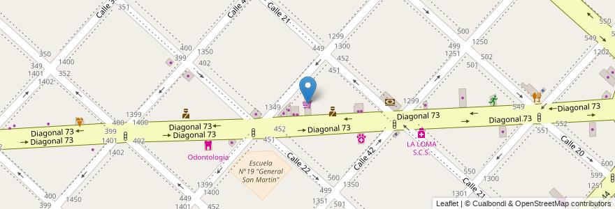 Mapa de ubicacion de Supermercado Melanie, Casco Urbano en Argentina, Buenos Aires, Partido De La Plata, La Plata.