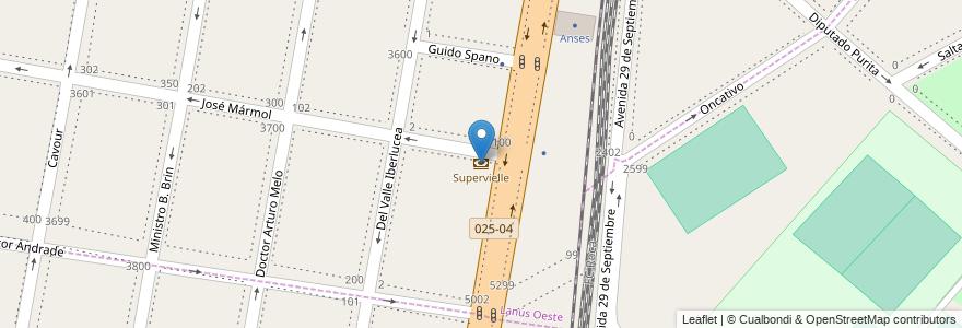 Mapa de ubicacion de Supervielle en Argentina, Buenos Aires, Partido De Lanús, Lanús Oeste, Remedios De Escalada.
