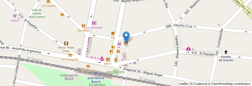 Mapa de ubicacion de Supervielle en Argentina, Buenos Aires, Partido De Tres De Febrero, Villa Bosch.