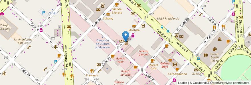 Mapa de ubicacion de Supervielle, Casco Urbano en Argentina, Buenos Aires, Partido De La Plata, La Plata.