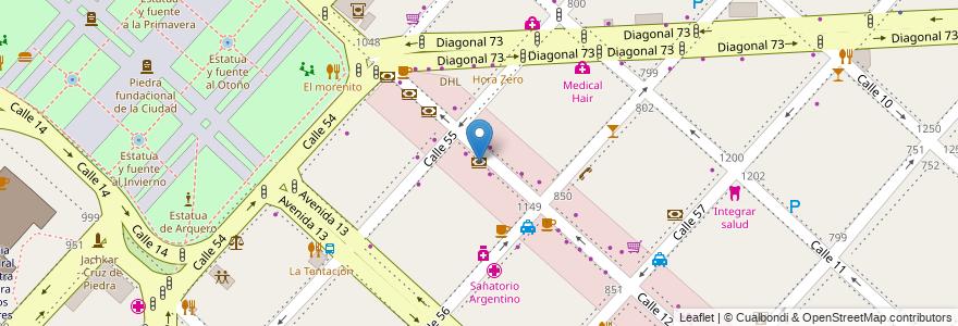 Mapa de ubicacion de Supervillie, Casco Urbano en La Plata, Partido De La Plata, Buenos Aires, Argentina.