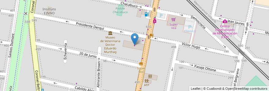 Mapa de ubicacion de Sur France (Peugeot) en Argentina, Mendoza, Chile, Godoy Cruz, Departamento Godoy Cruz, Distrito Ciudad De Godoy Cruz.