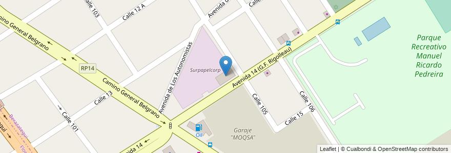 Mapa de ubicacion de Surpapelcorp en Argentina, Buenos Aires, Partido De Florencio Varela, Berazategui.