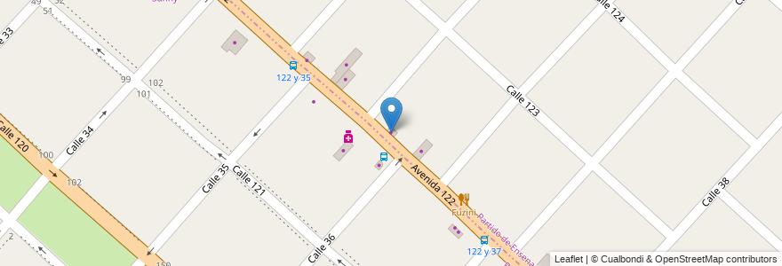 Mapa de ubicacion de Taller Mecánico Bulón en Argentina, Buenos Aires, Partido De Ensenada.