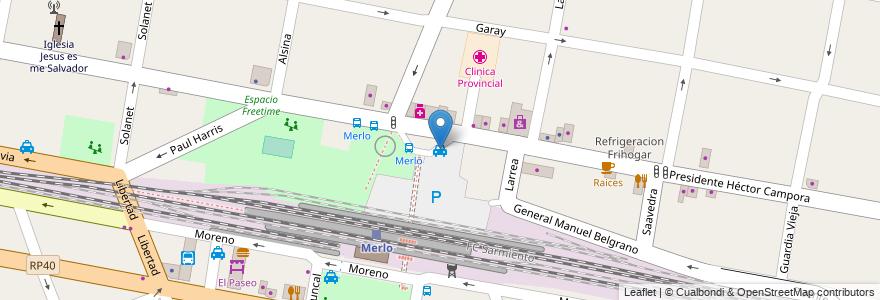 Mapa de ubicacion de Taxi Norte en Argentina, Buenos Aires, Partido De Merlo, Merlo.