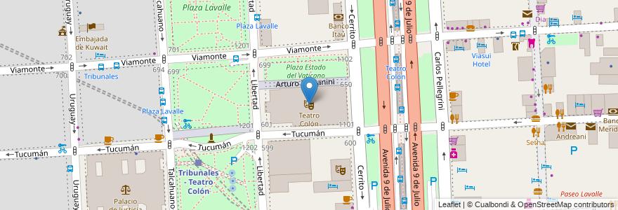 Mapa de ubicacion de Teatro Colón, San Nicolas en Buenos Aires, Ciudad Autónoma De Buenos Aires, Argentina.