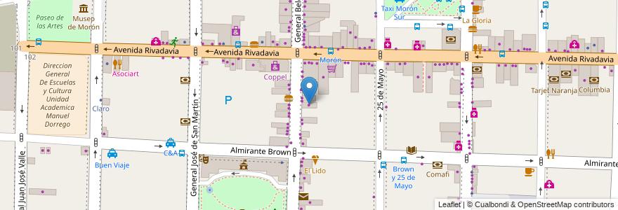 Mapa de ubicacion de Teber's en Morón, Partido De Morón, Buenos Aires, Argentina.
