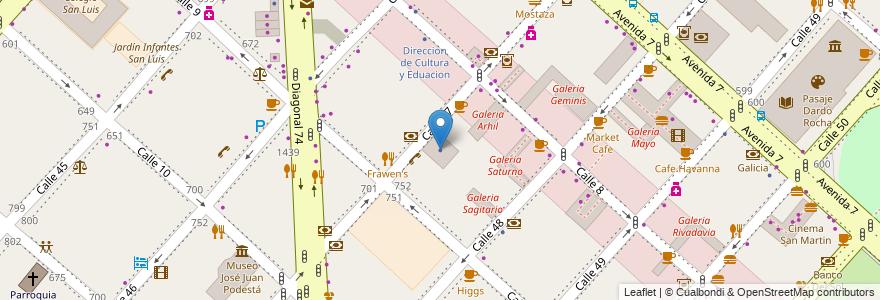Mapa de ubicacion de Telefónica, Casco Urbano en Argentina, Buenos Aires, Partido De La Plata, La Plata.