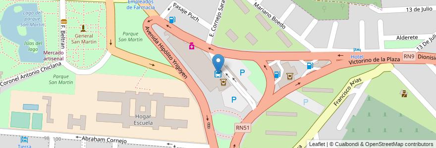 Mapa de ubicacion de terminal de omnibus en Argentina, Salta, Capital, Salta, Municipio De Salta.