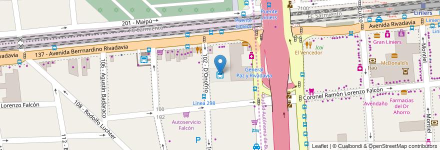Mapa de ubicacion de Terminal Línea 242 - La Cabaña en Argentina, Buenos Aires, Partido De Tres De Febrero, Ciudadela.