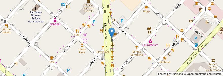 Mapa de ubicacion de Thionis, Casco Urbano en La Plata, Partido De La Plata, Buenos Aires, Argentina.