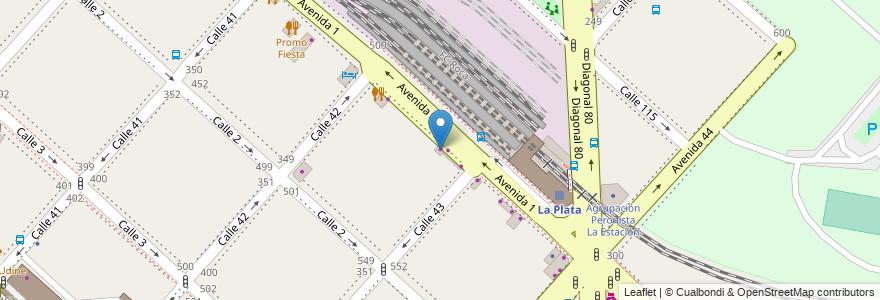 Mapa de ubicacion de Tienda Sportif, Casco Urbano en La Plata, Partido De La Plata, Buenos Aires, Argentina.