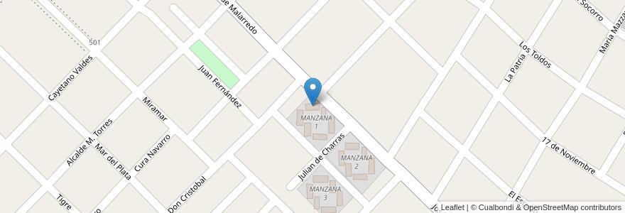 Mapa de ubicacion de TORRE 1 - MANZANA 1 en Argentina, Buenos Aires, Partido De Hurlingham, Villa Tesei.
