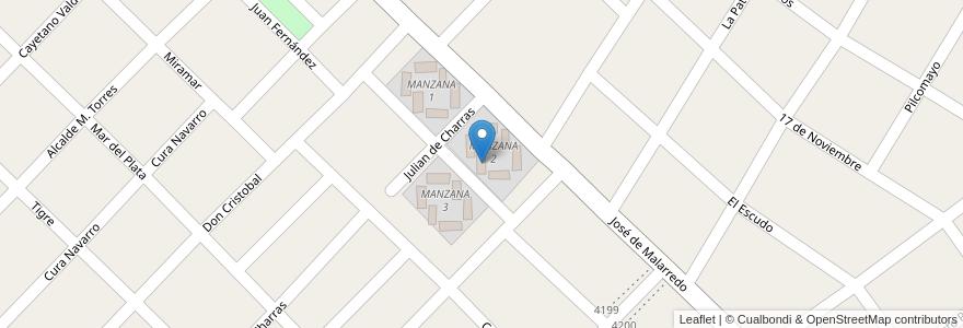 Mapa de ubicacion de TORRE 1 - MANZANA 2 en Argentina, Buenos Aires, Partido De Hurlingham, Villa Tesei.