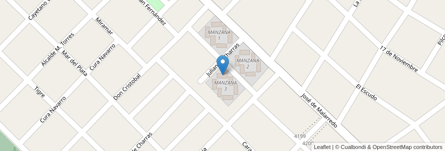 Mapa de ubicacion de TORRE 3 - MANZANA 3 en Argentina, Buenos Aires, Partido De Hurlingham, Villa Tesei.