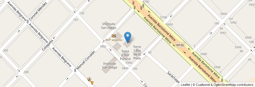 Mapa de ubicacion de Torre 5 Río Uruguay en Argentina, Buenos Aires, Partido De Avellaneda, Wilde.