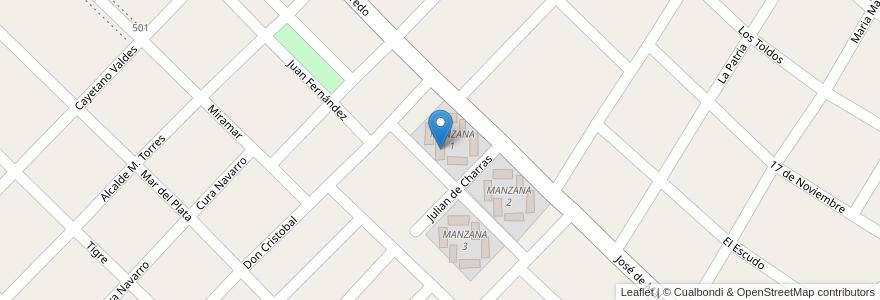 Mapa de ubicacion de TORRE 6 - MANZANA 1 en Argentina, Buenos Aires, Partido De Hurlingham, Villa Tesei.