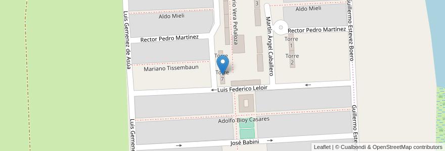 Mapa de ubicacion de Torre 7 en Argentina, Santa Fe, Departamento La Capital, Santa Fe Capital.