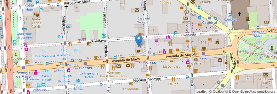 Mapa de ubicacion de Torre La Buenos Aires, San Nicolas en Argentina, Ciudad Autónoma De Buenos Aires, Buenos Aires, Comuna 1.