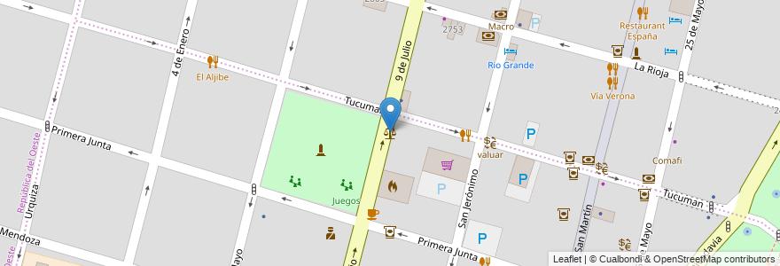 Mapa de ubicacion de Tribunal Colegiado de la Familia N° 5 en Argentina, Santa Fe, Departamento La Capital, Santa Fe Capital, Santa Fe.