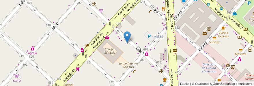 Mapa de ubicacion de Tru-La-La Jardín Maternal, Casco Urbano en La Plata, Partido De La Plata, Buenos Aires, Argentina.