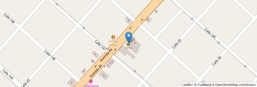 Mapa de ubicacion de Turbo, San Carlos en Argentina, Buenos Aires, Partido De La Plata, San Carlos.