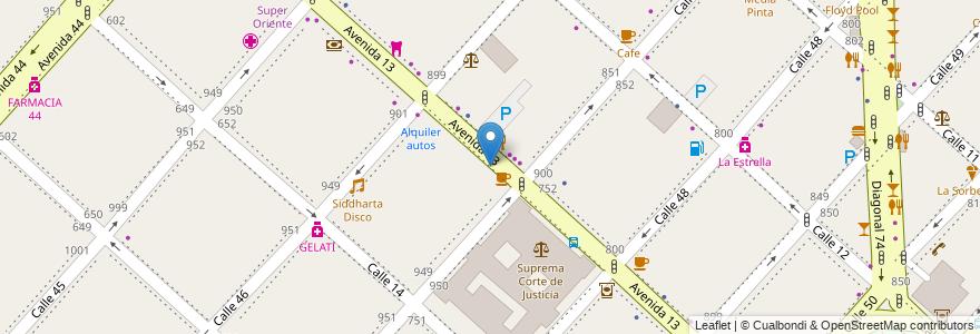 Mapa de ubicacion de UCLP - Facultad de Odontología, Casco Urbano en La Plata, Partido De La Plata, Buenos Aires, Argentina.