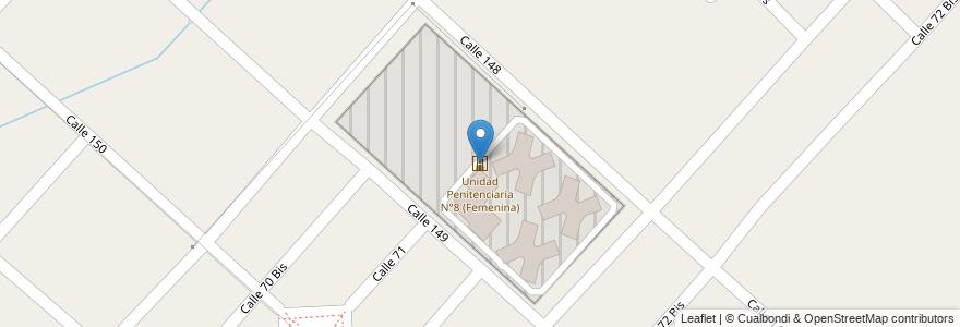 Mapa de ubicacion de Unidad Penitenciaria N°8 (Femenina), Los Hornos en Argentina, Buenos Aires, Partido De La Plata, Los Hornos.