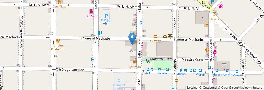 Mapa de ubicacion de Universidad de Moron en Morón, Partido De Morón, Buenos Aires, Argentina.