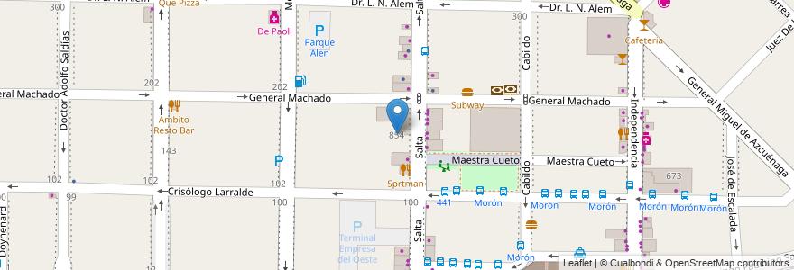 Mapa de ubicacion de Universidad de Morón en Argentina, Buenos Aires, Partido De Morón, Morón.
