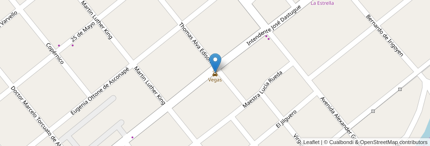 Mapa de ubicacion de Vegas en Argentina, Buenos Aires, Partido De Merlo, Partido De Moreno, Merlo.