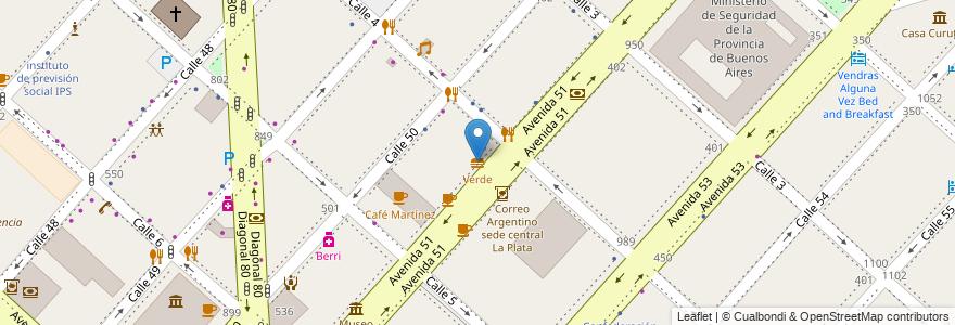 Mapa de ubicacion de Verde, Casco Urbano en La Plata, Partido De La Plata, Buenos Aires, Argentina.