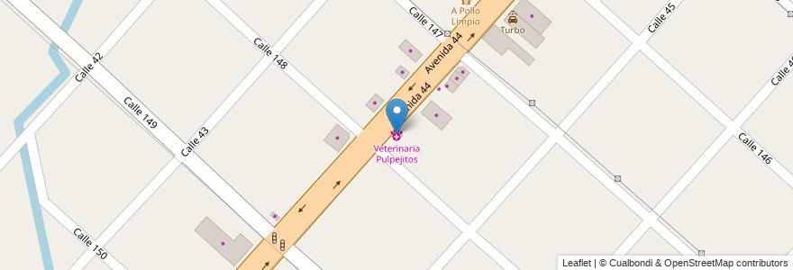 Mapa de ubicacion de Veterinaria Pulpejitos, San Carlos en Argentina, Buenos Aires, Partido De La Plata, San Carlos.