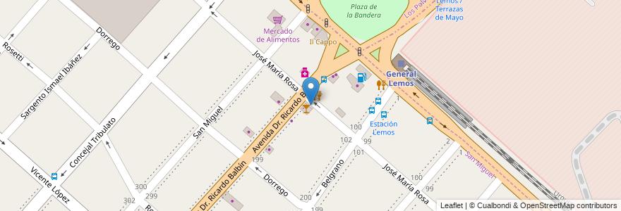 Mapa de ubicacion de Via Bariloche en Argentina, Buenos Aires, Partido De San Miguel.