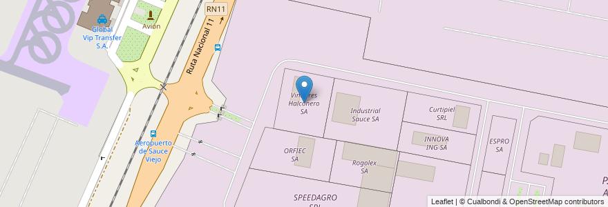 Mapa de ubicacion de Vinagres Halconero SA en Argentina, Santa Fe, Departamento La Capital, Municipio De Sauce Viejo.