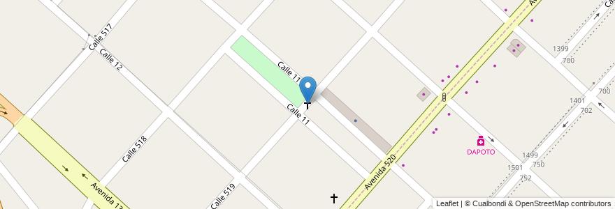 Mapa de ubicacion de Virgen de la Plaza Jorge Newbery, Ringuelet en Argentina, Buenos Aires, Partido De La Plata, Ringuelet.