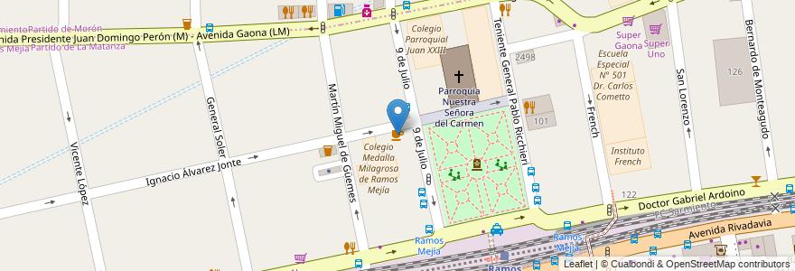 Mapa de ubicacion de Virtud en Argentina, Buenos Aires, Partido De La Matanza, Ramos Mejía.