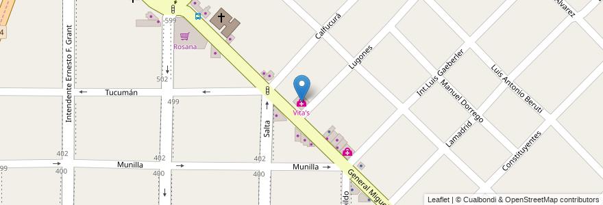 Mapa de ubicacion de Vita's en Argentina, Buenos Aires, Partido De Morón, Morón.