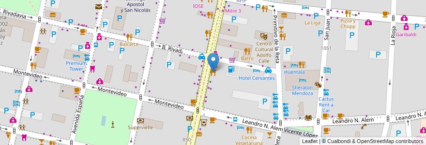 Mapa de ubicacion de Vittorio en Argentina, Chile, Mendoza, Departamento Capital, Ciudad De Mendoza, Sección 3ª Parque O'Higgins.
